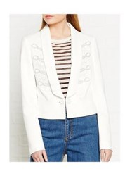 Just Cavalli Embroidered Tuxedo Blazer Off White