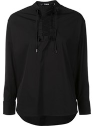 Neil Barrett Lace Up Shirt Black
