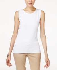 Alfani Sleeveless Layering Tank Top Bright White