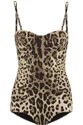 Dolce And Gabbana Leopard Print Swimsuit Animal Print