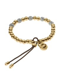 Bead Stretch Bracelet Golden Michael Kors
