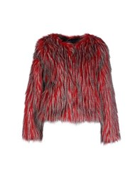 Unreal Fur Coats And Jackets Faux Furs Women Red