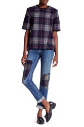 Rag And Bone Dre Patched Skinny Jean Blue