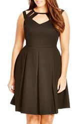 Plus Size Women's City Chic 'Sweet Cutout' Fit And Flare Dress