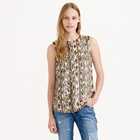 J.Crew Collection Holographic Snake Print Shell