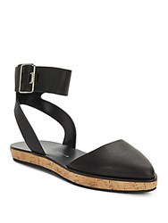 Alice Olivia Resse Leather Closed Toe Sandals Black