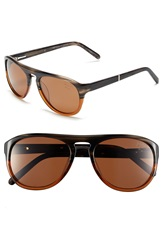 Original Penguin 'The Crosby' 56Mm Polarized Sunglasses Feathered Grey Brown
