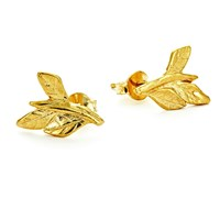 Chupi Wrap Your Laurels Around Me Stud Earrings In Gold