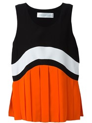 Victoria Beckham Colour Block Tank Top Black