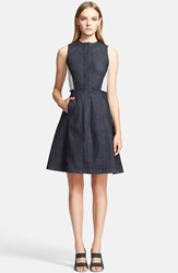 Women's Proenza Schouler Knit Back Denim Fit And Flare Dress