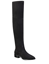 Ivanka Trump Livi Over The Knee Faux Suede Boots Black