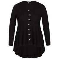 Chesca Chiffon Trim Bubble Blouse Black