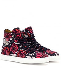 Charlotte Olympia Printed High Top Sneakers Red