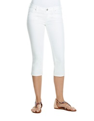 Jessica Simpson Cropped Skinny Leg Jeans White