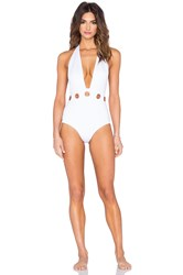 Clover Canyon Solid Swimsuit White