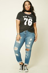 Forever 21 Plus Size Distressed Jeans