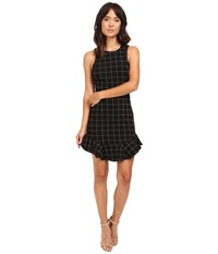Adelyn Rae Knit Plaid Halter Mini Dress Black Women's Dress