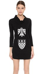 Ktz Round Collar Dress Black White