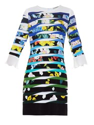 Mary Katrantzou Amellus Techno Flowers Stripe Print Dress