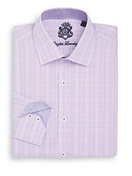 English Laundry Regular Fit Checked Dress Shirt Lavender