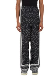 Fendi Printed Pajama Pants Black