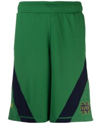 Under Armour Men's Notre Dame Fighting Irish Basketball Shorts Green Navy