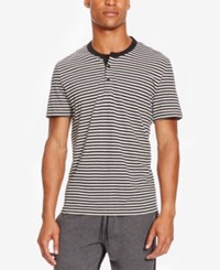 Kenneth Cole Reaction Men's Calgary Striped Henley Sterling