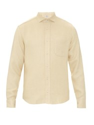 Inis Meain Silk And Linen Blend Knitted Overshirt Ivory
