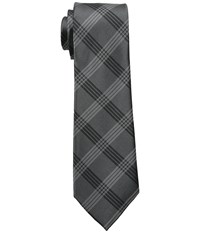 Dkny Suiting Plaid Gray Ties
