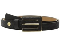 Kate Spade Lizard Belt W Inlaid Buckle Black Women's Belts