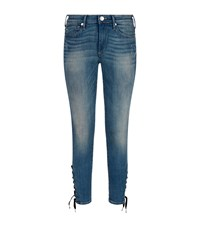 True Religion Halle Lace Up Skinny Jeans Female Blue