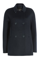 Steffen Schraut Jacket With Wool Blue
