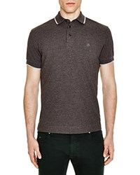 Z Zegna Pima Cotton Pique Slim Fit Polo Dark Grey