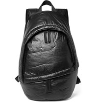 Maison Martin Margiela Leather Trimmed Coated Shell Backpack Black