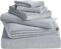 Cb2 6 Piece Smith Silver Grey Bath Towel Set