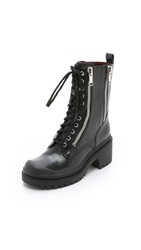 Marc By Marc Jacobs Richardson Zip Army Boots Black