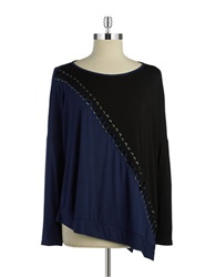 Ella Moss Braided Long Sleeved Tee Midnight Black