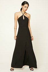 Forever 21 Keyhole Halter Maxi Dress Black