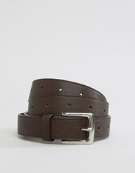 Pieces Waist And Hip Knot Detail Belt Dark Brown