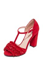 Boutique Moschino Open Toed Heels Red