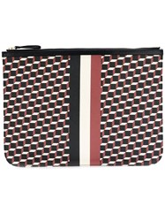 Pierre Hardy 'Pouch Canvas Cube' Clutch Red