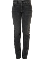 Alexander Wang T By Relaxed Slim Fit Jeans Grey