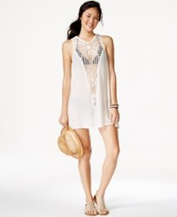 O'neill Crochet Front Shift Cover Up Women's Swimsuit Vanilla