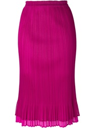 Issey Miyake Vintage Pleated Skirt Pink And Purple