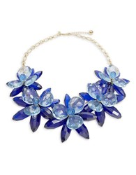 Kate Spade Blooming Brilliant Floral Statement Necklace Gold