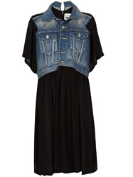 Comme Des Garcons Junya Watanabe Denim Panel Dress Black