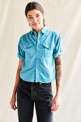 Urban Renewal Recycled Deadstock Button Down Shirt Blue
