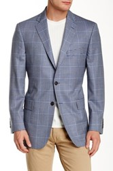 Brooks Brothers Blue Notch Lapel Two Button Wool Sports Jacket