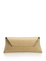 Vbh Manila Stretch Sparkle Envelope Clutch Gold