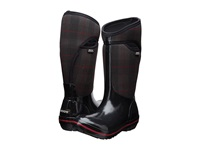 Bogs Plimsoll Prince Of Wales Tall Black Women's Pull On Boots